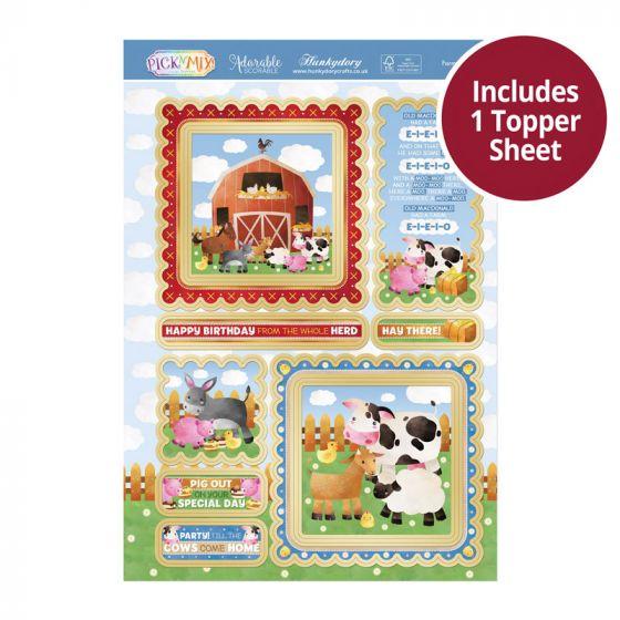 Pick 'N' Mix Topper Sheet - Farmyard Fun