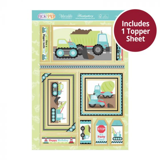 Pick 'N' Mix Topper Sheet - I Dig Diggers