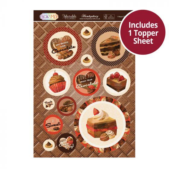 Pick 'n' Mix Topper Sheet - I Heart Chocolate