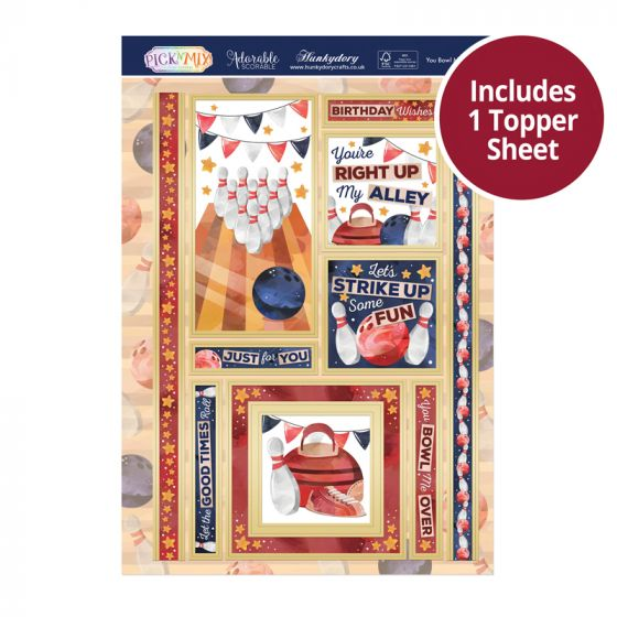Pick 'N' Mix Topper Sheet - You Bowl Me over