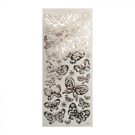 Peel-Offs - Butterflies Silver