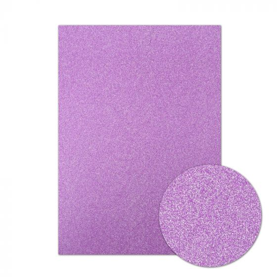 Diamond Sparkles Shimmer Card - Purple Lavender