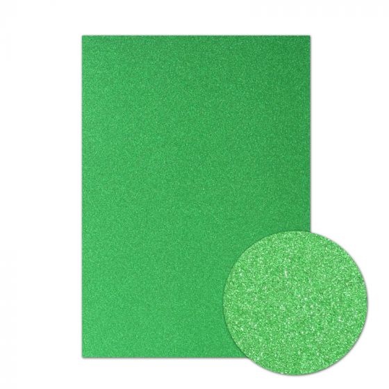 Diamond Sparkles Shimmer Card - Emerald Green