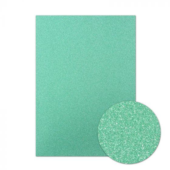 Diamond Sparkles Shimmer Card - Jade Green
