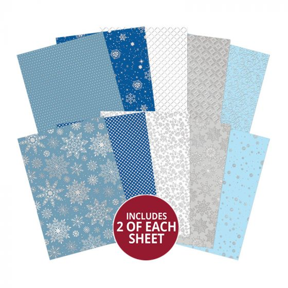 Let it Snow Luxury Foiled Cardstock