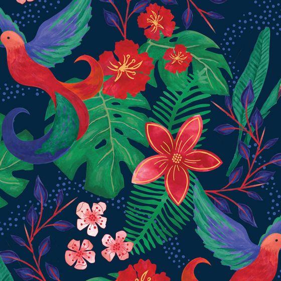 Sarah Payne - Birds of Paradise - Birds of Paradise  Navy