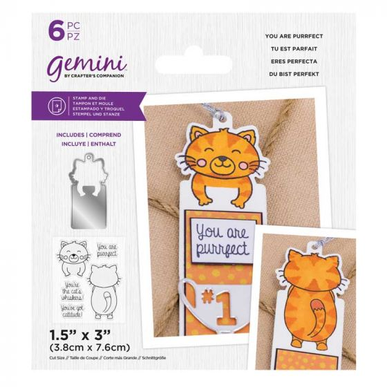Gemini - Stamp & Die - You are Purrfect