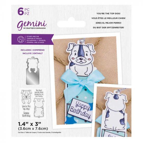 Gemini - Stamp & Die - You're the Top Dog!