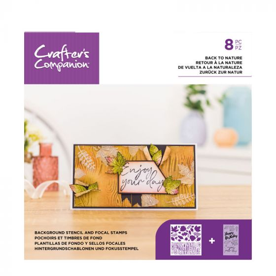 Background Stencil & Focal Stamps - Back to Nature