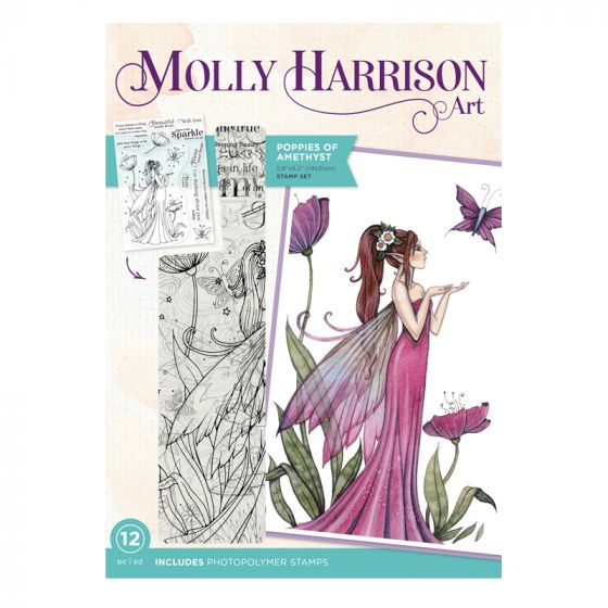 Molly Harrison Photopolymer Stamp - Poppies of Amethyst