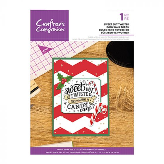 Clear Acrylic Christmas Quirky Sentiment Stamps - Sweet But Twisted