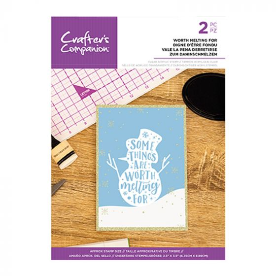 Clear Acrylic Christmas Quirky Sentiment Stamps - Worth Melting For