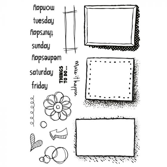 Doodle Diary Stamp Set x 19 stamps