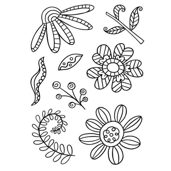 Daisy Doodles Stamps x 8 stamps