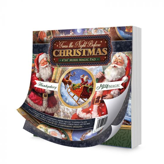 "'Twas the Night Before Christmas 4"" x 4""  Mirri Magic Pad"