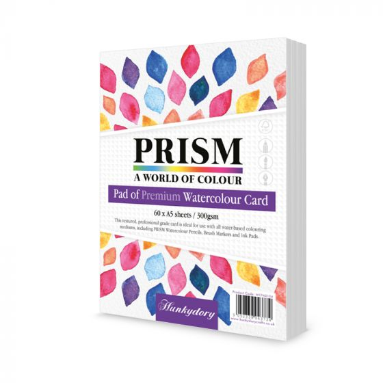 Prism Premium Pad of Watercolour Card - A5