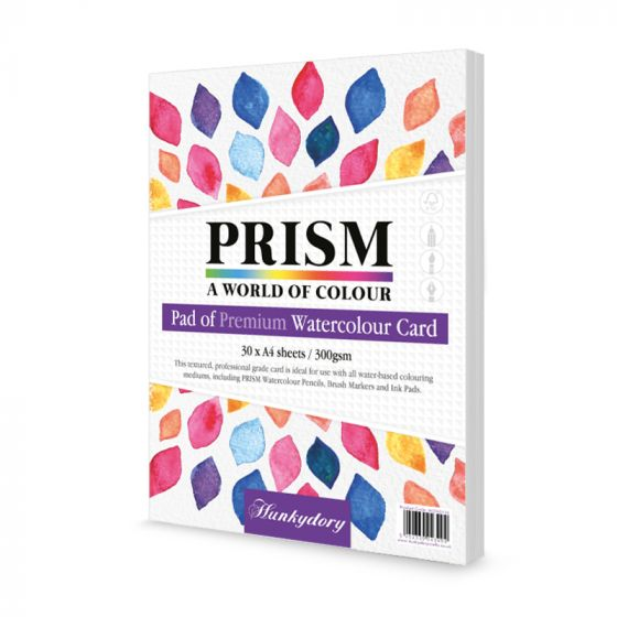 Prism Premium Pad of Watercolour Card - A4