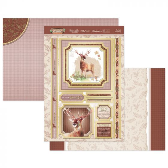 The Red Deer Stag Luxury Topper Set