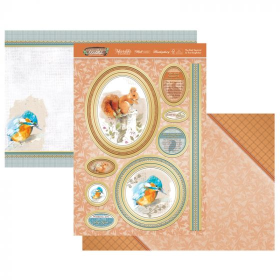 The Red Squirrel & Kingfisher Luxury Topper Set