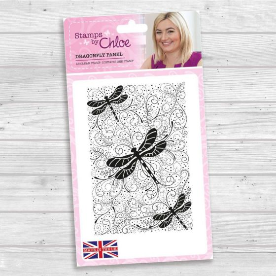 Stamps by Chloe - A6 Clear Stamp - Dragonfly Panel