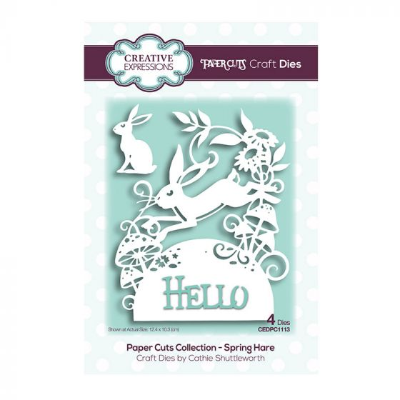 Creative Expressions Paper Cuts Spring Hare Craft Die