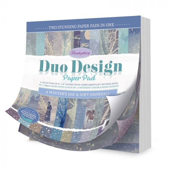 Duo Design Paper Pad - A Winter's Day & Soft Snowfall
