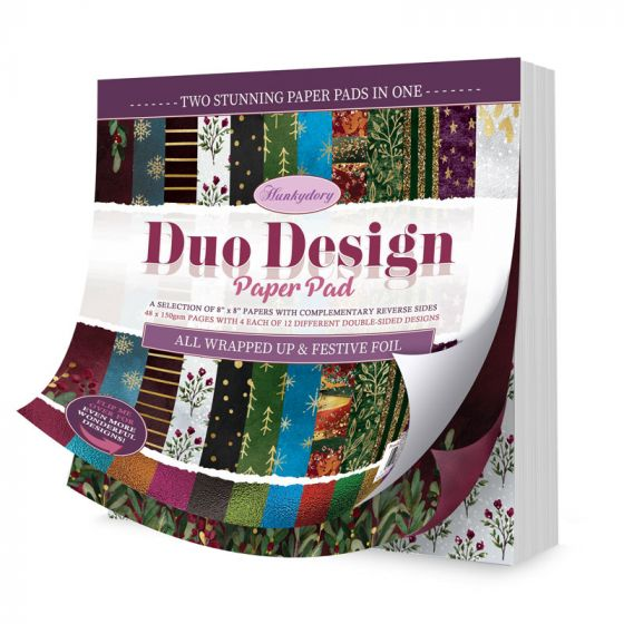 Duo Design Paper Pad - All Wrapped Up & Festive Foil