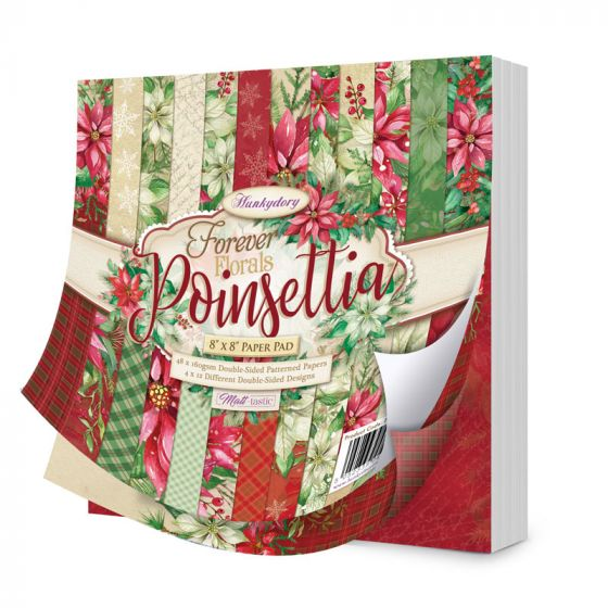 """Forever Florals - Poinsettia 8"""" x 8"""" Paper Pad"""