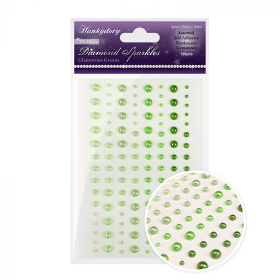 Diamond Sparkles Gemstones - Precious Pearls - Glamorous Greens