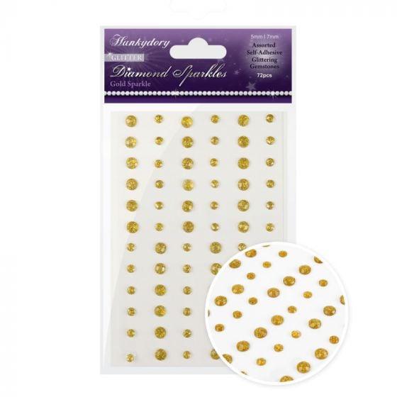 Diamond Sparkles Glitter Gemstones - Gold Sparkle