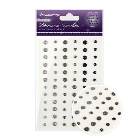 Diamond Sparkles Glitter Gemstones - Monochrome Sparkles
