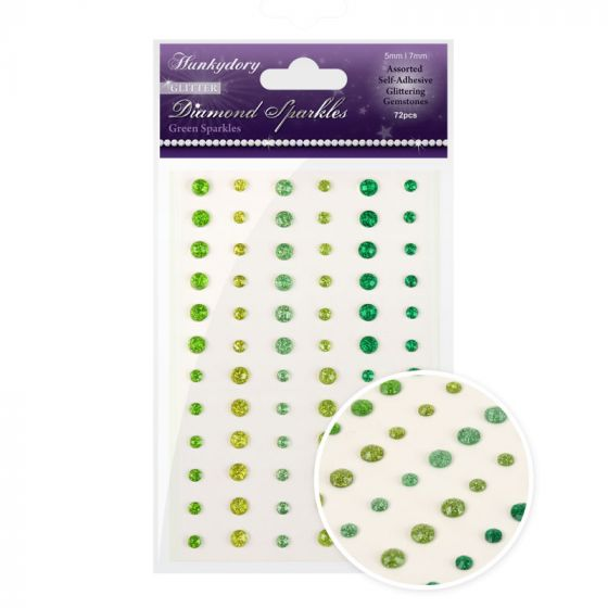 Diamond Sparkles Glitter Gemstones - Green Sparkles