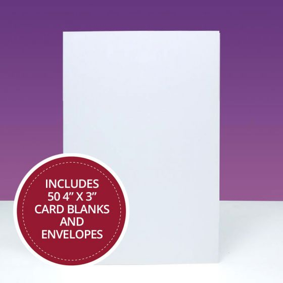 "4"" x 3"" Card Blanks & Envelopes Megabuy"