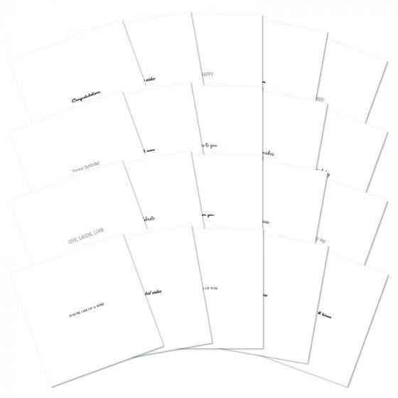 "Hunkydory Essentials - 6"" x 6"" Card Insert Block"