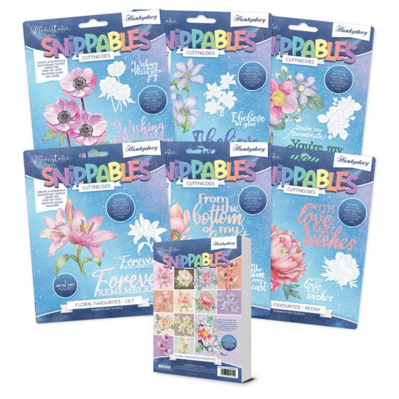 Moonstone Dies - Floral Favourites Snippables Ultimate Collection
