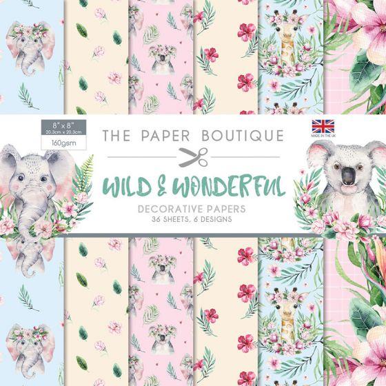 The Paper Boutique Wild & Wonderful 8x8 Paper Pad