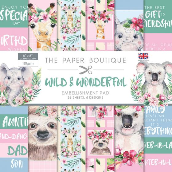 The Paper Boutique Wild & Wonderful 8x8 Embellishment Pad