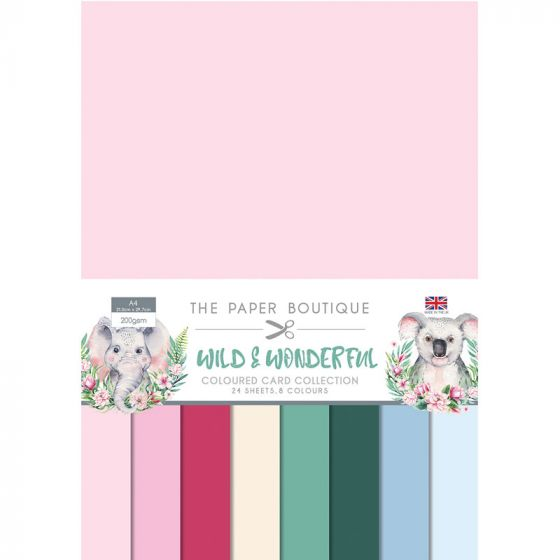 The Paper Boutique Wild & Wonderful A4 Colour Card Collection