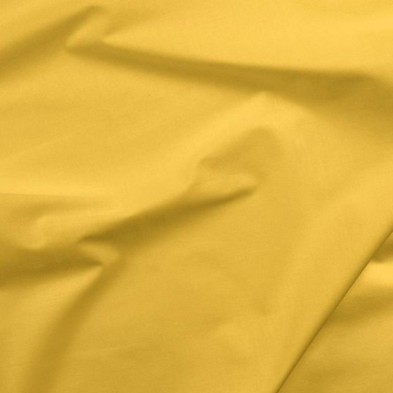 Solids Cotton Fabric - Bright Yellow (1 mtr)