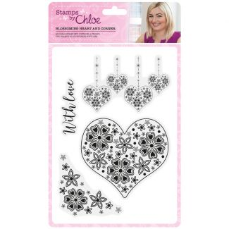 Stamps by Chloe - Blossoming Heart and Corner Stamp Collection
