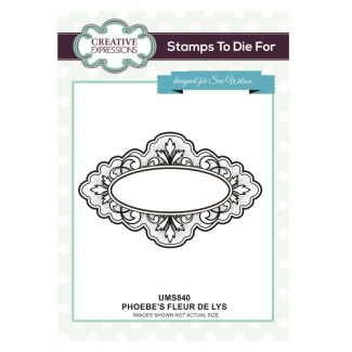 Stamps to Die For - Phoebe's Fleur de Lys Pre cut stamp