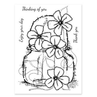 Woodware Clear Stamp - Small Daisy Jar