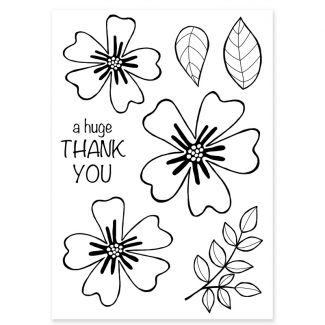 Woodware Clear Stamp - Bold Blooms Amanda