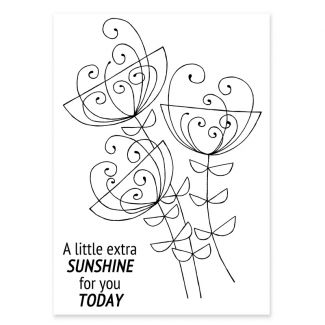Woodware Clear Stamp - Bold Blooms Ginny