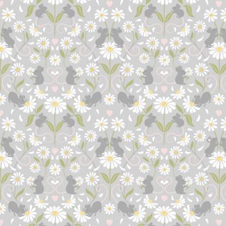 Lewis & Irene - Fat Quarter - Mirrored Mice on light grey