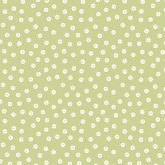 Lewis & Irene - Fat Quarter - Dotty Daisy on light grass