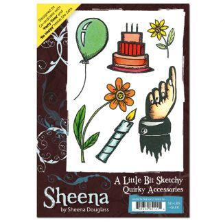 Sheena A6 Rubber Stamp - Quirky Accessories