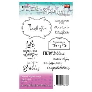 Perfect Wishes A6 Clear Stamp Set