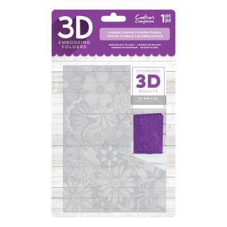 3D Embossing Folder 5 x 7 - Floral Fusion