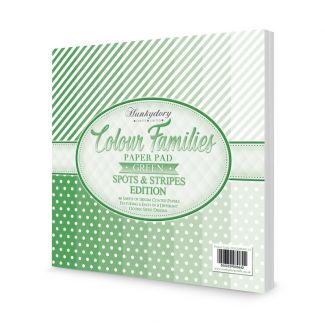 Colour Families Spots & Stripes Paper Pad - Green
